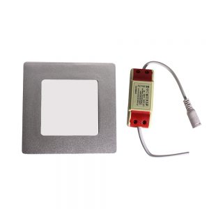 Placa Led Empotrable 6w ( driver incluido ) sustituye Downlight con 1 Bombillas de 24w Bajo Consumo.